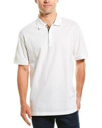 Burberry Eddie Logo-embroidered Cotton-piqué Polo Shirt - White