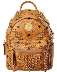 MCM Stark Bebe Boo Mini Backpack - Brown