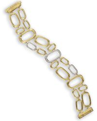 Marco Bicego Murano 18k Two-tone 0.49 Ct. Tw. Multi-strand Bracelet - Metallic