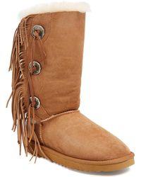dd0ca6b3b9e Trishka Tall Fringe Boot - Brown