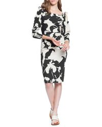 Tracy Reese Stretch Crepe Ruched Knee-length Dress - Multicolour