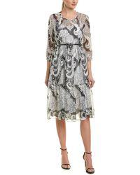 Max Mara Studio Silk A-line Dress - White