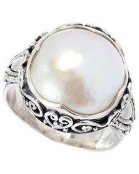 Samuel B. Silver 11mm Pearl Ring - Metallic