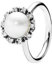 PANDORA - Everlasting Grace Stackable Ring - Lyst