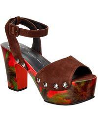 0851230bbb5f4 Giuseppe Zanotti - Studded Suede Ankle-strap Sandal - Lyst