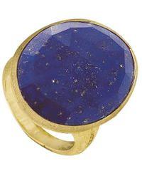 Marco Bicego Lunaria 18k Lapis Cocktail Ring - Blue