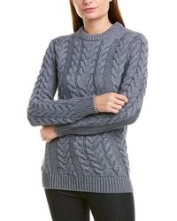 Theory - Twisting Wool-blend Sweater - Lyst