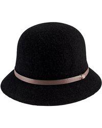 San Diego Hat Company Knit Wool-blend Cloche - Black