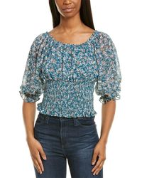 1.STATE Woodland Floral Top - Green