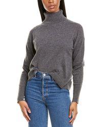 J.Crew Turtleneck Cashmere Sweater - Gray