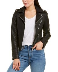 Bagatelle Army Leather Jacket - Black