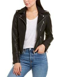 Bagatelle Army Leather Jacket - Black