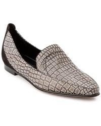 """Derek Lam """"raena"""" Croc-embossed Leather Loafer - Black"""