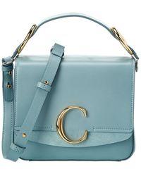 Chloé Small Leather & Suede Shoulder Bag - Blue