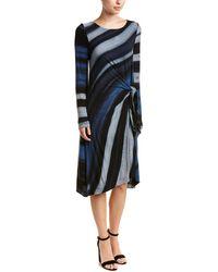 Three Dots - Tie-waist Cashmere-blend Midi Dress - Lyst