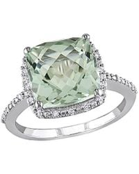 Rina Limor 10k 4.10 Ct. Tw. Diamond & Green Amethyst Ring