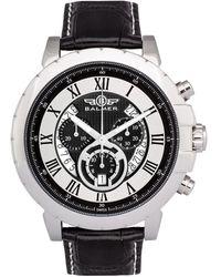 Balmer Leather Watch - Metallic