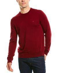 Brooks Brothers Wool Crewneck Sweater - Red