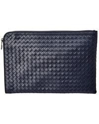Bottega Veneta - Intrecciato Leather Small Document Holder - Lyst