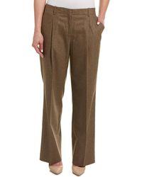 Lafayette 148 New York Petite Rivington Wool-blend Pant - Brown