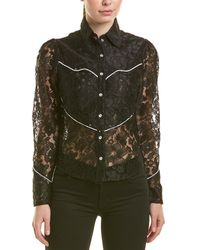 Divine Héritage Lace Western Shirt - Black