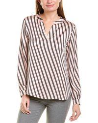 Anne Klein Striped Shirt - Pink