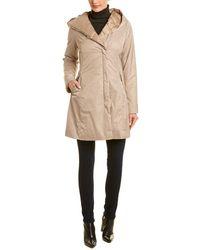 Tahari Hooded Raincoat - Natural