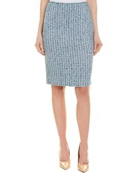 St. John - Wool-blend Pencil Skirt - Lyst