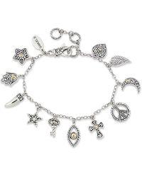 Samuel B. 18k & Silver Inspirational Bracelet - Metallic