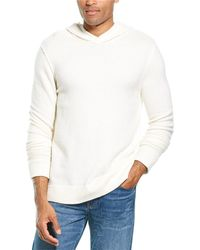 James Perse Basket Weave Cashmere Hoodie - White