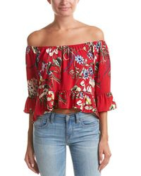 Peach Love CA - Off-the-shoulder Top - Lyst
