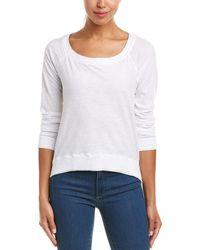 Three Dots - Off-the-shoulder Sweatshirt - Lyst