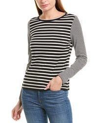 La Vie Rebecca Taylor Striped Top - Black