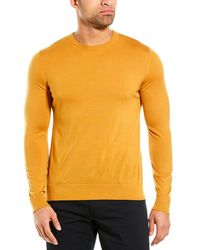 Theory Riland Wool-blend Crewneck Jumper - Yellow