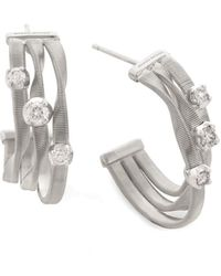 Marco Bicego Marrakech 18k 0.30 Ct. Tw. Diamond Hoops - Metallic
