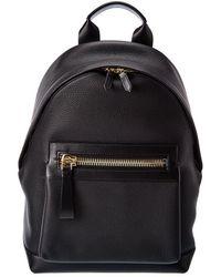 Tom Ford Buckley Leather Backpack - Black