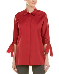 Lafayette 148 New York Saige Blouse - Red