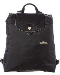 Longchamp Le Pliage Club Nylon Backpack - Black
