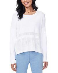NYDJ Pointelle Sweater - White