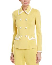 St. John Wool-blend Jacket - Yellow