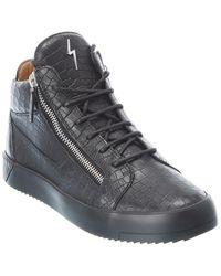 Giuseppe Zanotti Croc-embossed Leather Trainer - Black