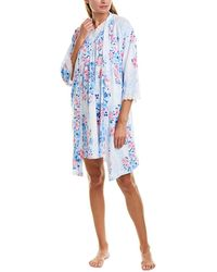 Carole Hochman 2pc Nightgown & Robe Set - Blue