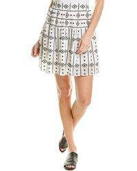 Sabina Musayev Moana Mini Skirt - White