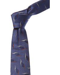 Canali Blue Silk Tie