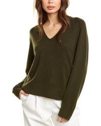 Vince V-neck Wool & Cashmere-blend Sweater - Green