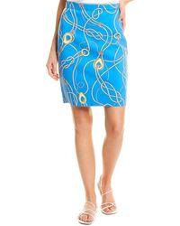J.McLaughlin Halle Pencil Skirt - Blue