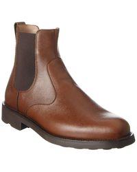 Ferragamo Chelsea Leather Boot - Brown