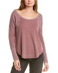 Lucky Brand Exposed Seam Top - Pink