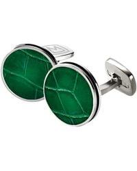 M-clip - Alligator Cuff Links - Stainless Steel/ Dark Green - Lyst