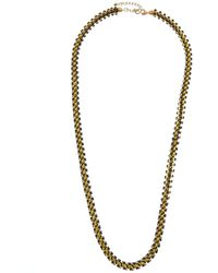 Kenneth Jay Lane Plated 40in Necklace - Metallic